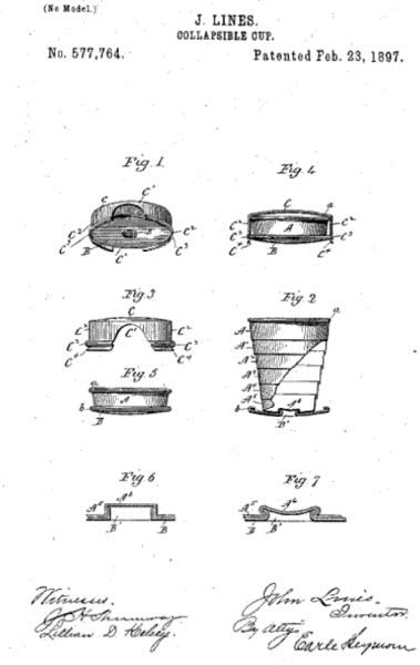 چه کسی لیوان تاشو را اختراع کرد؟