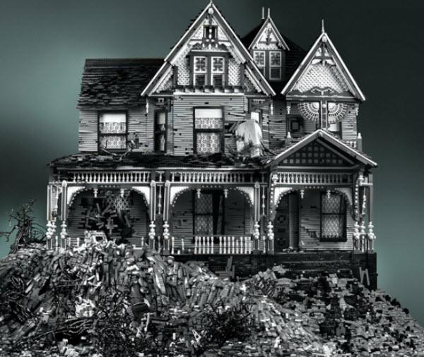 Mike Doyle's Spooky Victorian Lego Houses