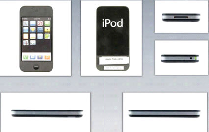 طرح نهایی گوشیIPHONE  مدل 3G و 3GSاز نماهای متفاوت
