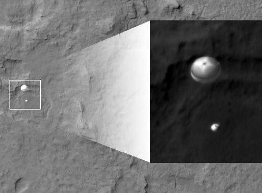 مدار مریخ , فرود مریخ نورد