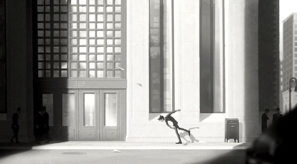 بخشی از انیمیشن کوتاه  Paperman
