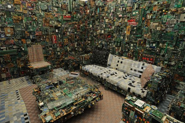 Benjamin Rollins Caldwell's Binary Room At Lady Gaga's artRave