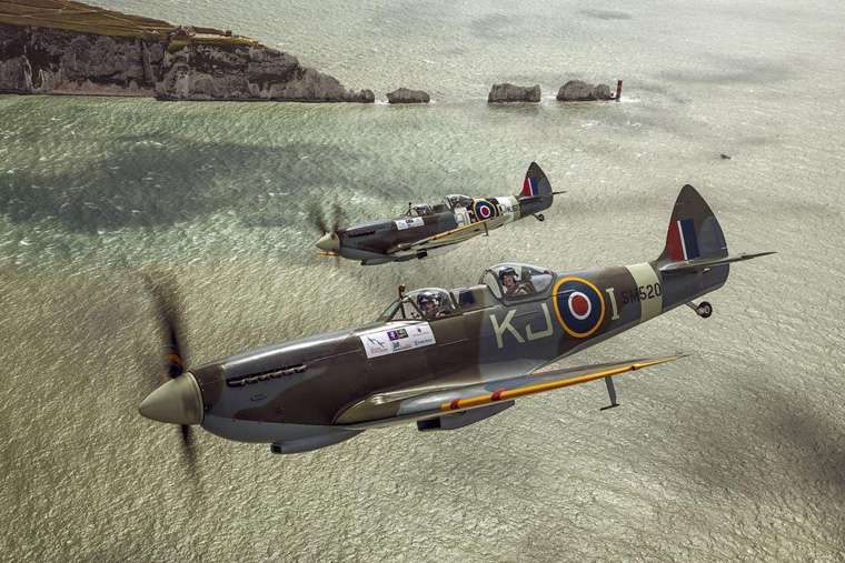 Prince Harry Flies in a Spitfire