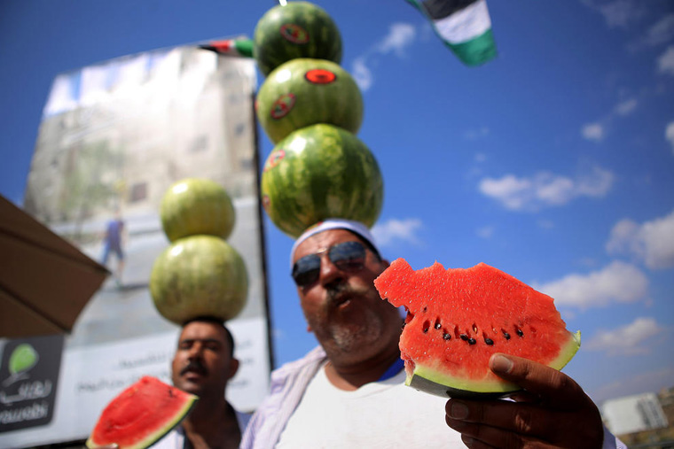 Watermelon Vendors In West Bank
